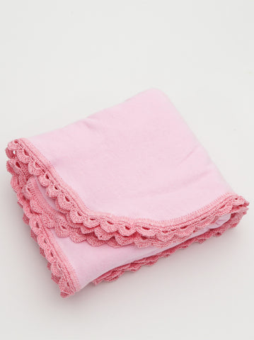 Ammee's Heirloom Crochet Blanket - Pink/Pink