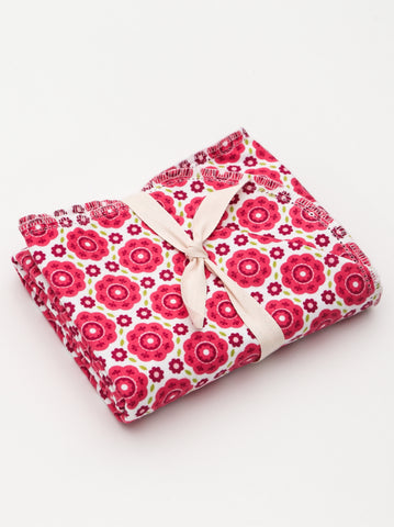 346B - BLANKET ONLY -  Red Flowers by Riley Blake Designs
