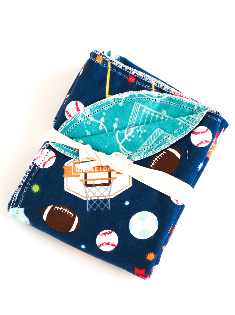 BLANKET ONLY Classic Sports Navy Design