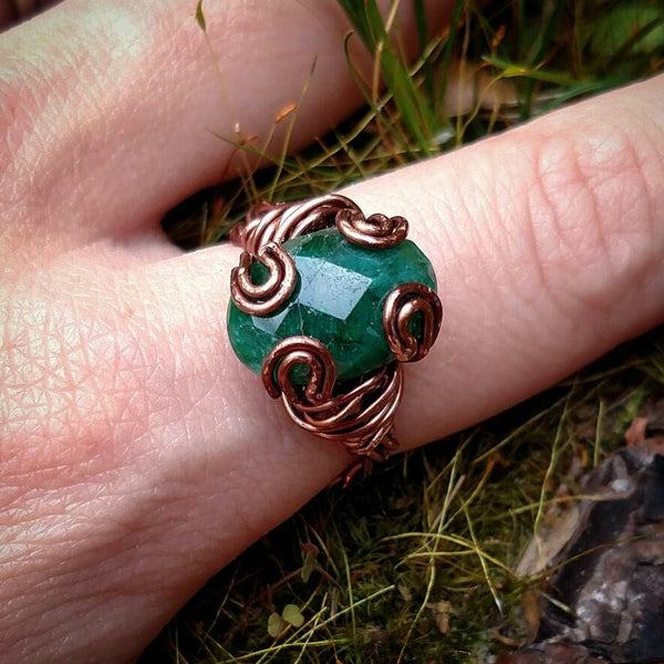 """Green Goddess"" - Emerald Ring"