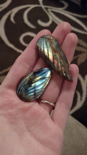 Carved labradorites - reserved