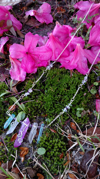 "RESERVED-""Candie"" - Wire Wrapped Crystal Necklace"