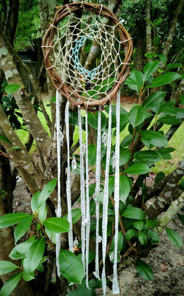 """Sweet Dreams"" - Handmade Crystal Dreamcatcher"