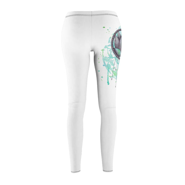 """Lotus Dream"" Women's Cut & Sew Casual Leggings"
