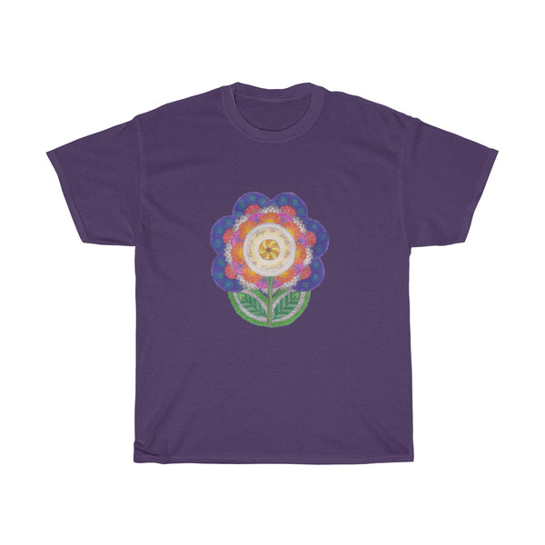 """Flower Power"" Unisex Heavy Cotton Tee"
