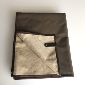 HELLAGOOD Blanket Northwest Brown Melange with Smooth Brown Trim - Belmont Blanket