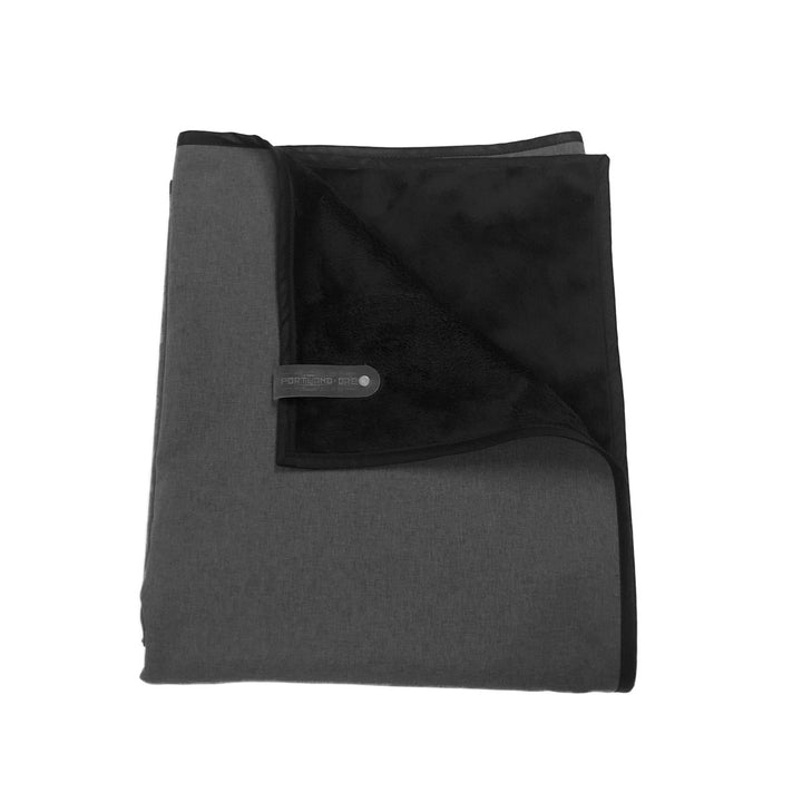 HELLAGOOD Deep Charcoal Grey with Black Trim - Belmont Blanket