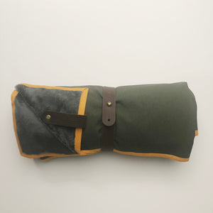 HELLAGOOD Outdoor blanket brown camping blanket
