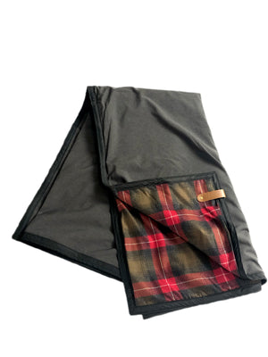 The Legacy Blanket Green with Pendleton Classic Red Green Brown Tartan
