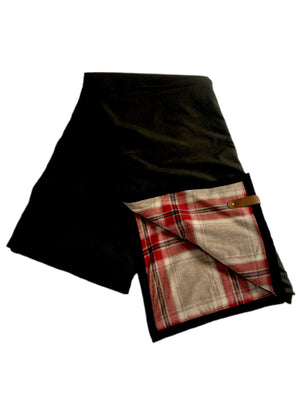 The Legacy Blanket Green with Pendleton Classic Red GreyTartan