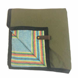 The Legacy Blanket Green with Pendleton Stripe