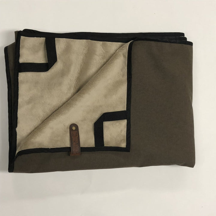Pathfinder Blanket Brown with Black Trim - Belmont Blanket