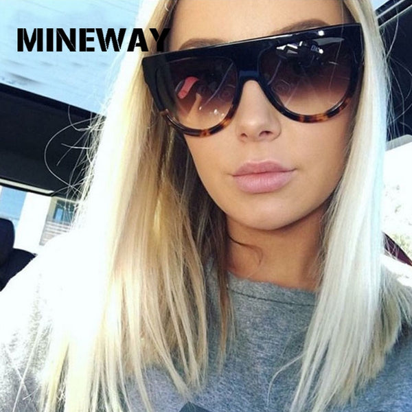 MINEWAY 2019 Sunglasses Women Vintage Luxury Brand Designer Gradient Lens Full Frame Shades UV400 Men Sun glasses Women Oculos