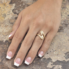 ZigZag Ring - 18K Yellow Gold