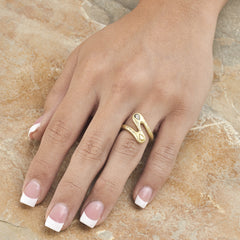 ZigZag Ring - 18K Green Gold