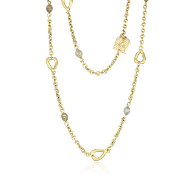 Rustique Rose Necklace - 18K Yellow Gold