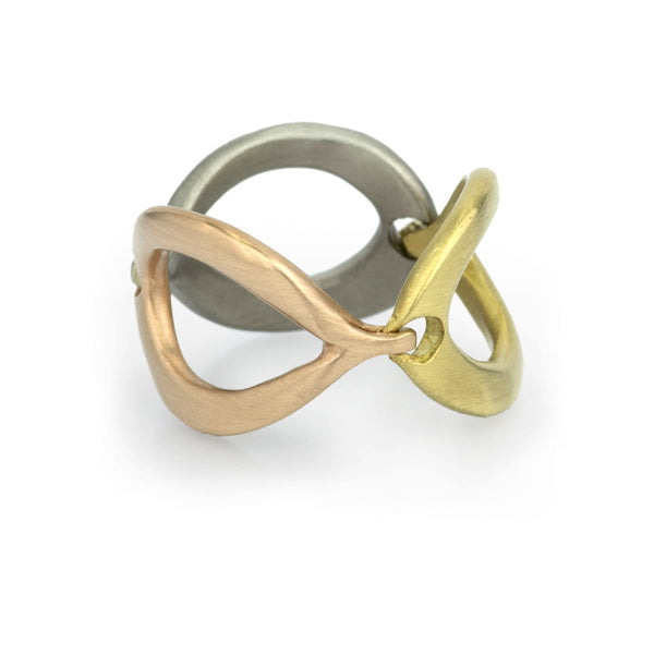 Slinky Link Ring - Mixed Metal