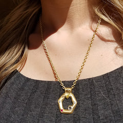 Hexagone Pendant - 18K Yellow Gold