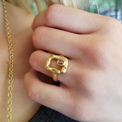 Emeraude Ring - 18K Yellow Gold