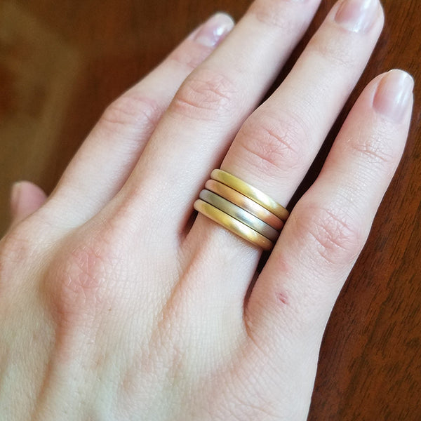 Plain Stacking Band 2 MM 18K Rose Gold