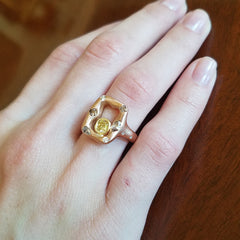 Emeraude Ring - 18k Rose Gold
