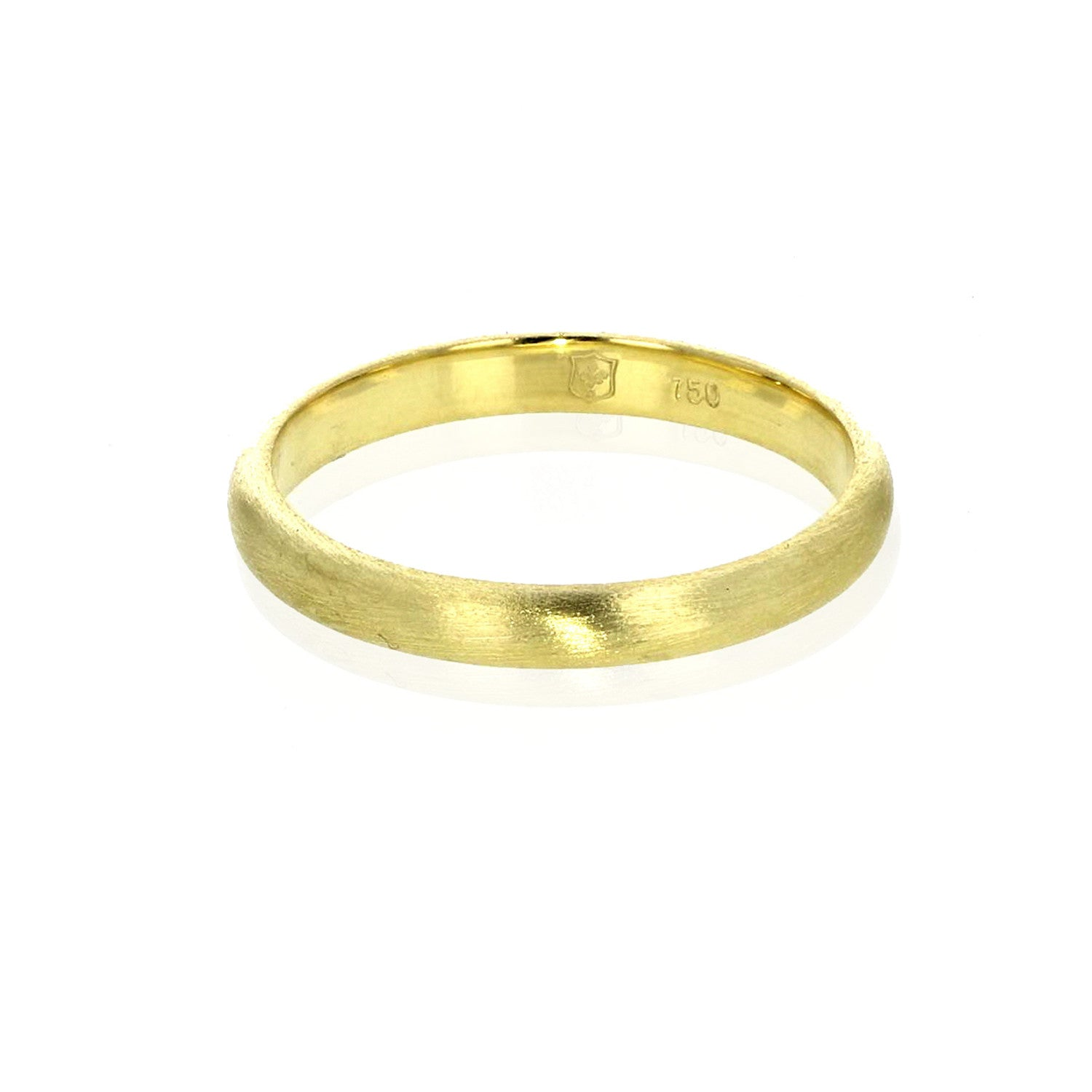 2 MM Plain Stacking Band 18K Green Gold