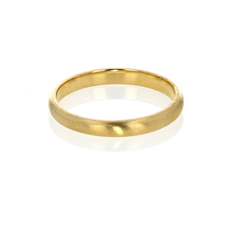 2 MM Plain Stacking Band 18K yellow Gold