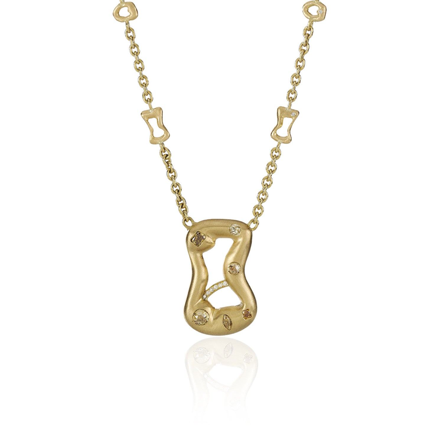 Guitare Pendant with Charms - 18k Yelow Gold