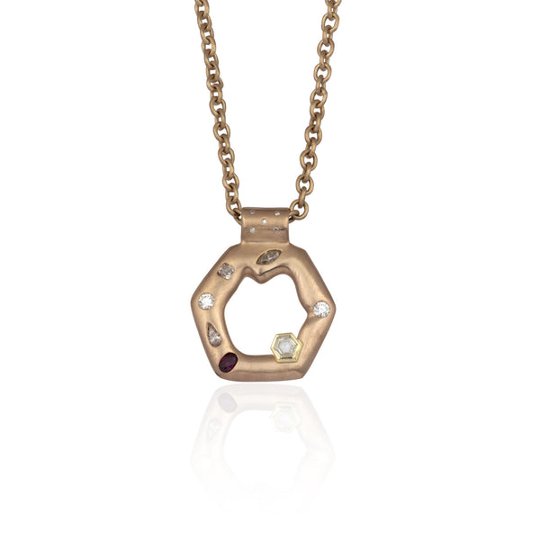 Hexagone Pendant - 18K Rose Gold