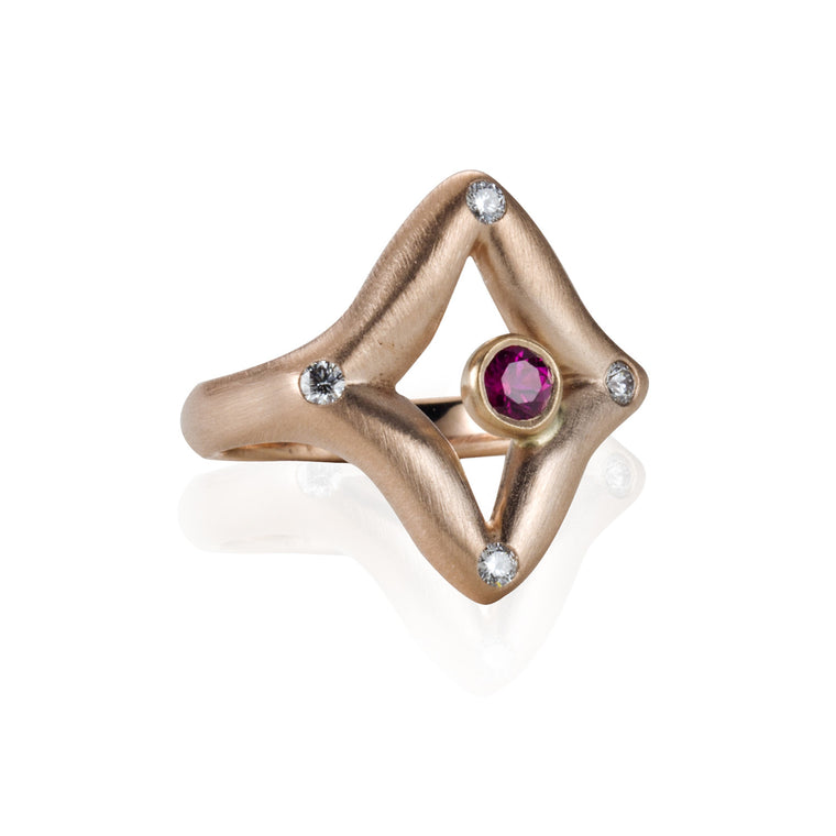 Diamant Ring in - 18K Rose Gold