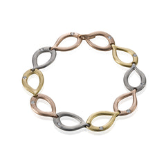 Slinky Link Mixed Metal Bracelet