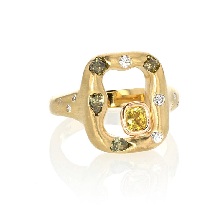 Emeraude Ring - 18K Green Gold