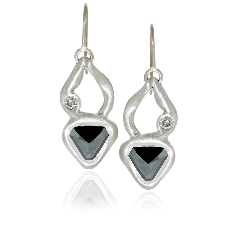 Black Diamond Flottant Earrings - Palladium