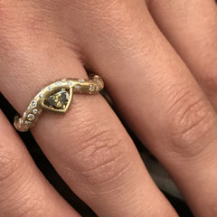 Crested Wave Ring- 18K Yellow Gold