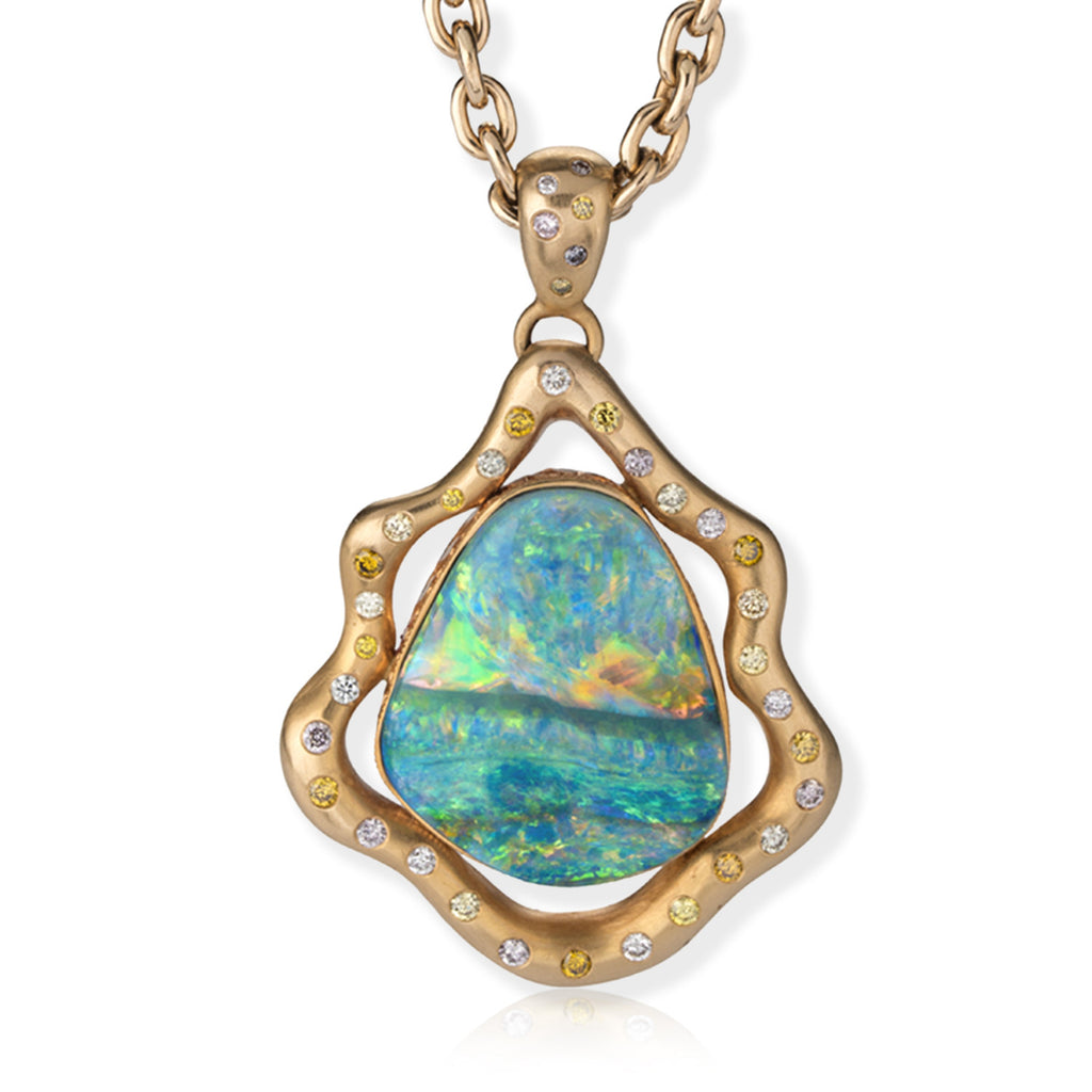 opal boulder gold macs set solid yellow pendant opals in shop