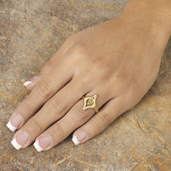 Lanterne Ring - 18k yellow gold