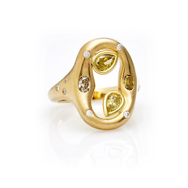 Ovale Ring - 18K Yellow Gold