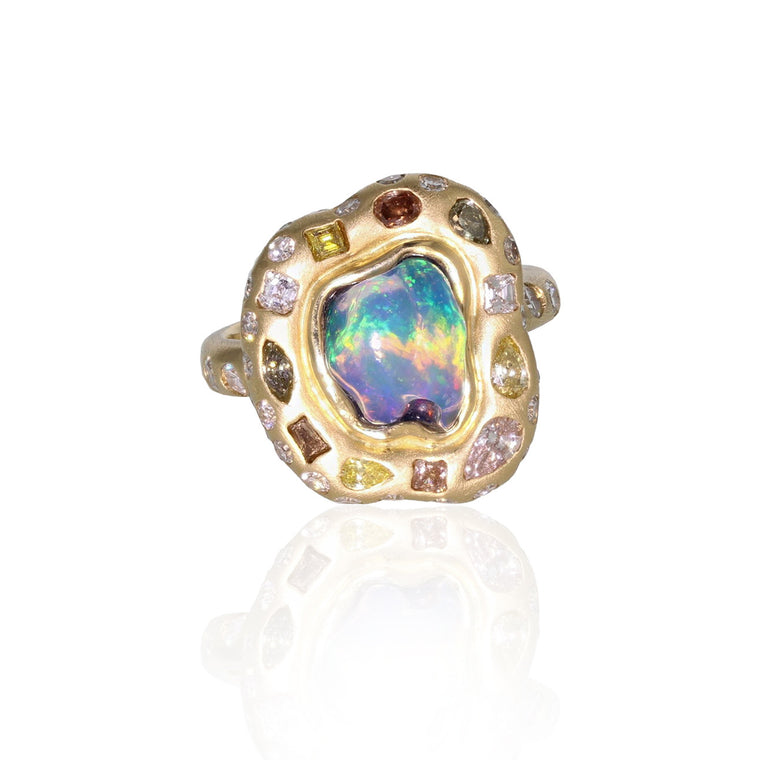 Galaxy Ring - 18K Yellow Gold