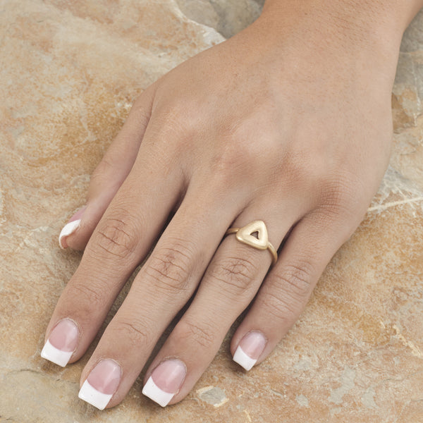 Trio Charm Ring - 18k Yellow Gold