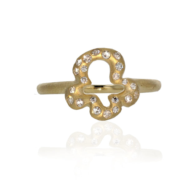 Trèfle Charm Ring - 18K Yellow Gold