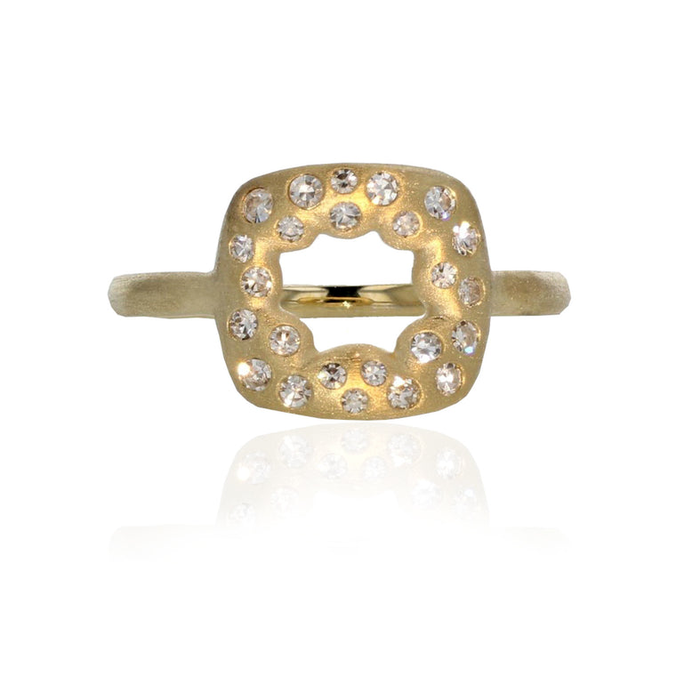 Energy Charm Ring - 18k Yellow Gold