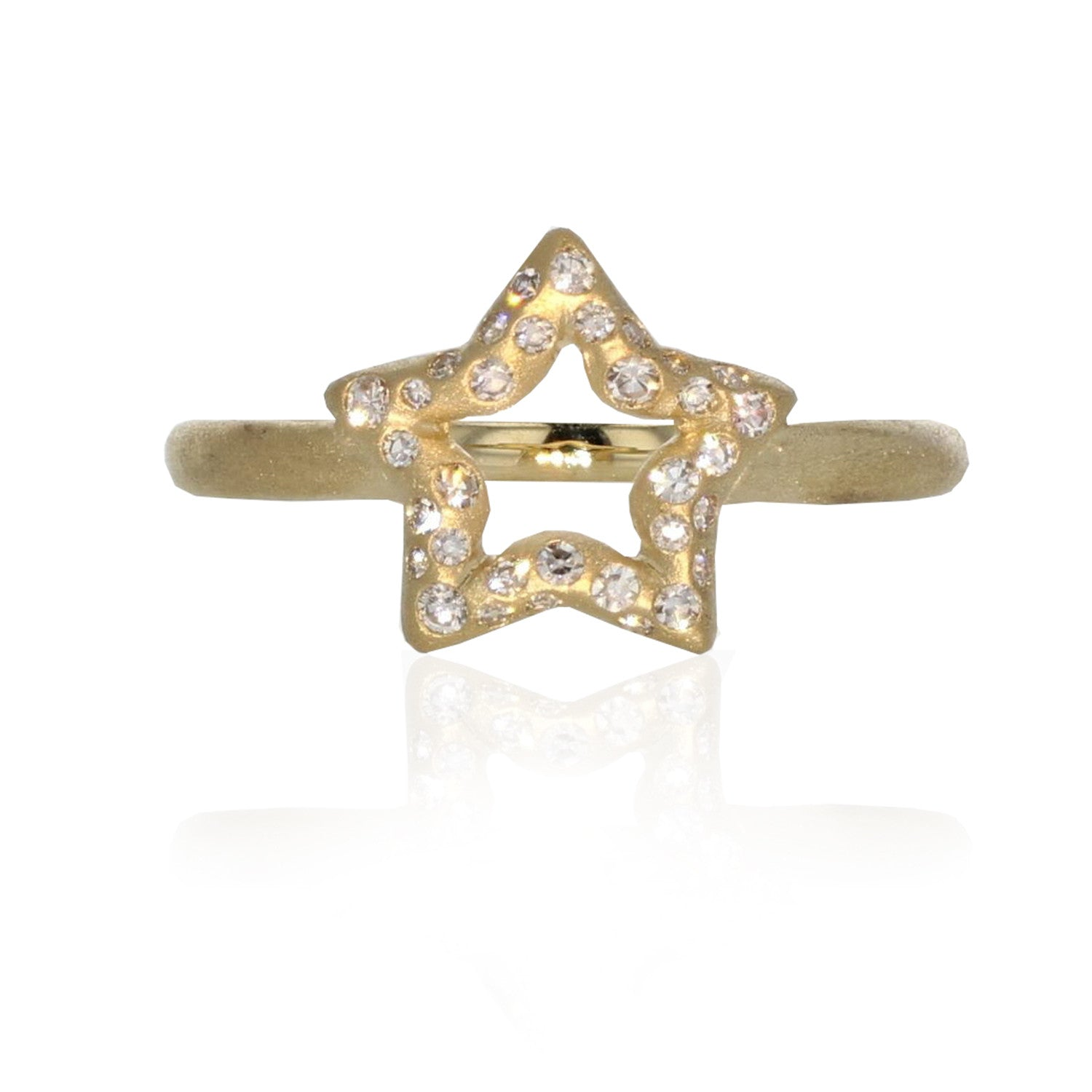 Star Charm Ring - 18K Yellow Gold