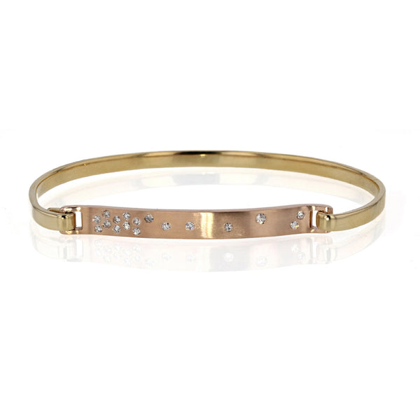 Click on Bracelet 18K Yellow and Rose gold with Diamonds