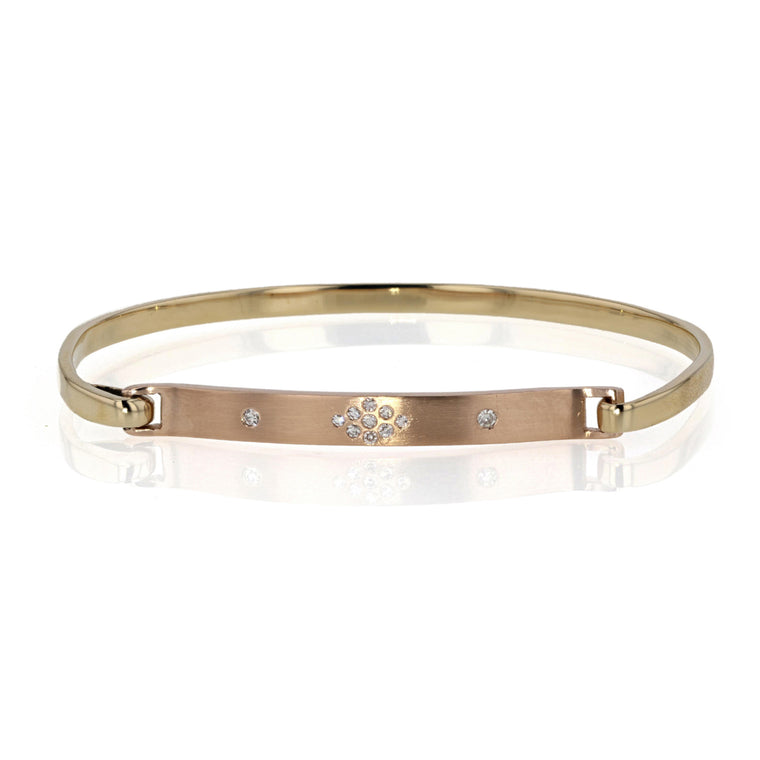 Click on Bracelet 18K Yellow and Rose gold with Gypsy set Diamonds