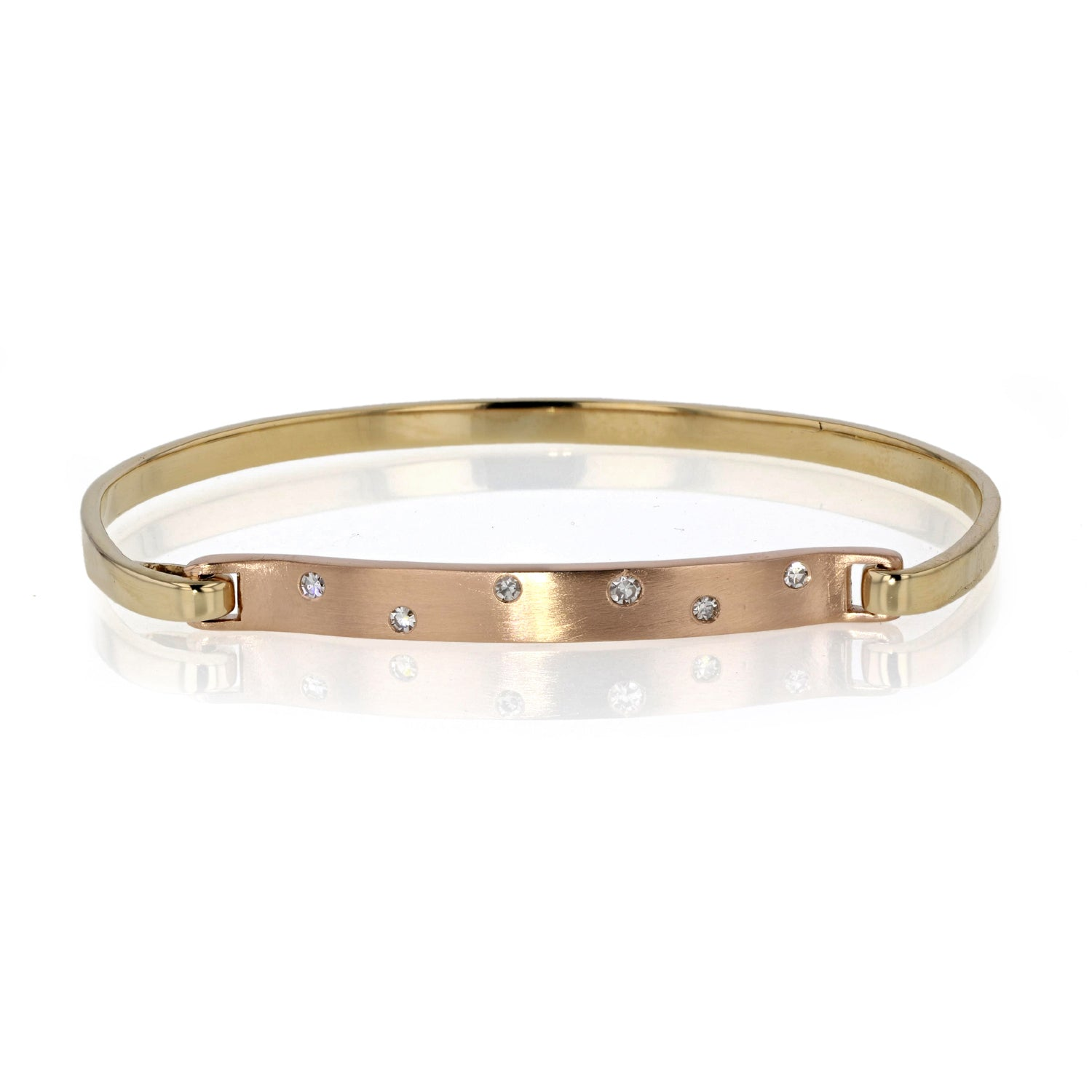 Click on Bracelet 18K Yellow and Rose gold with Sprinkled Diamonds