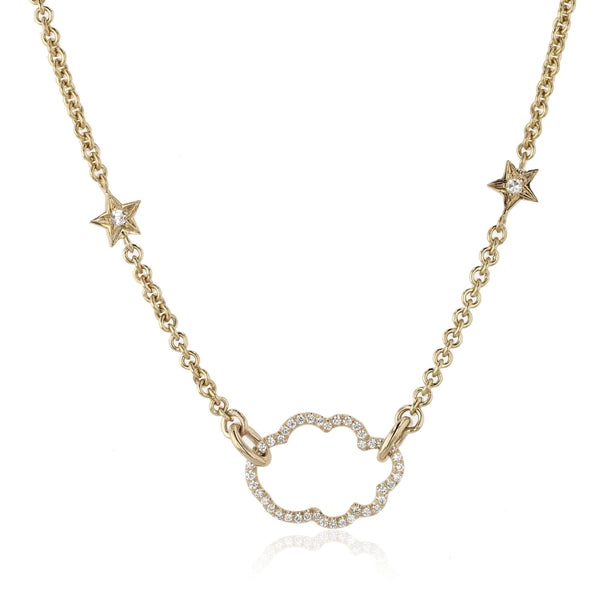 Cloud Nine Diamond Necklace - 18K Yellow gold