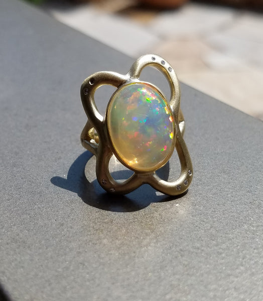 Gelée Opal Ring - 18K Yellow Gold