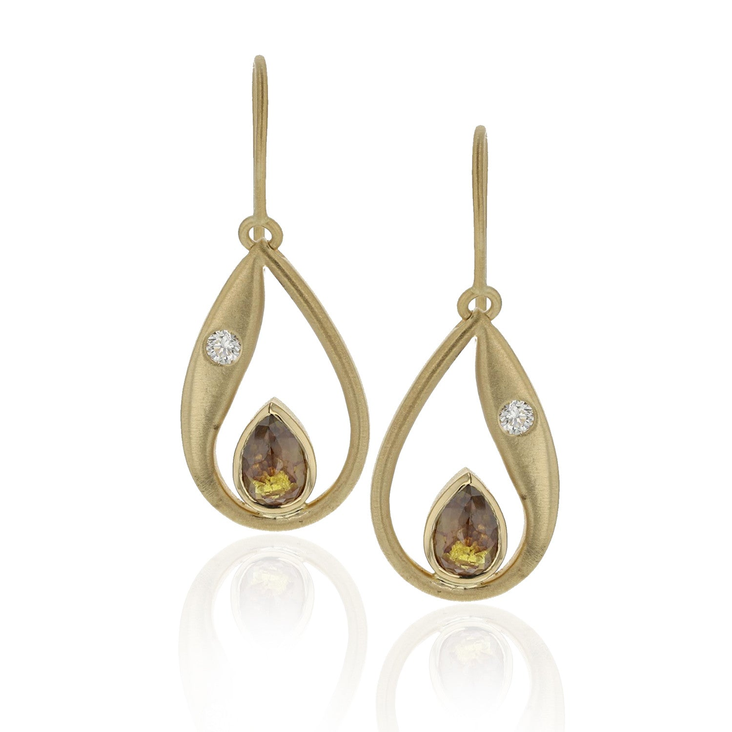 Paisley Earrings - 18K Yellow Gold