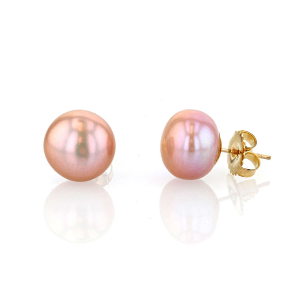 Mauve Pearl stud earrings