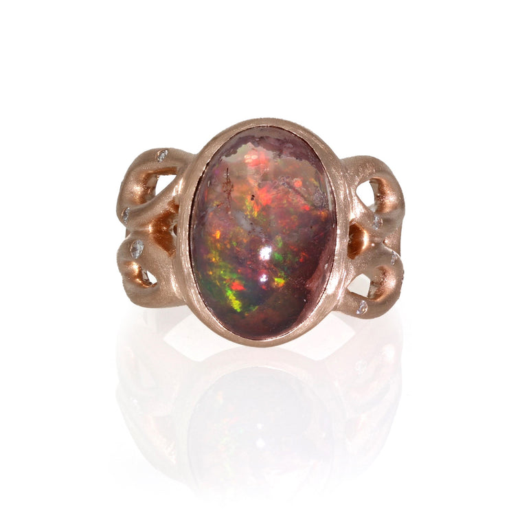 Mexican Opal in - 18k Rose Gold